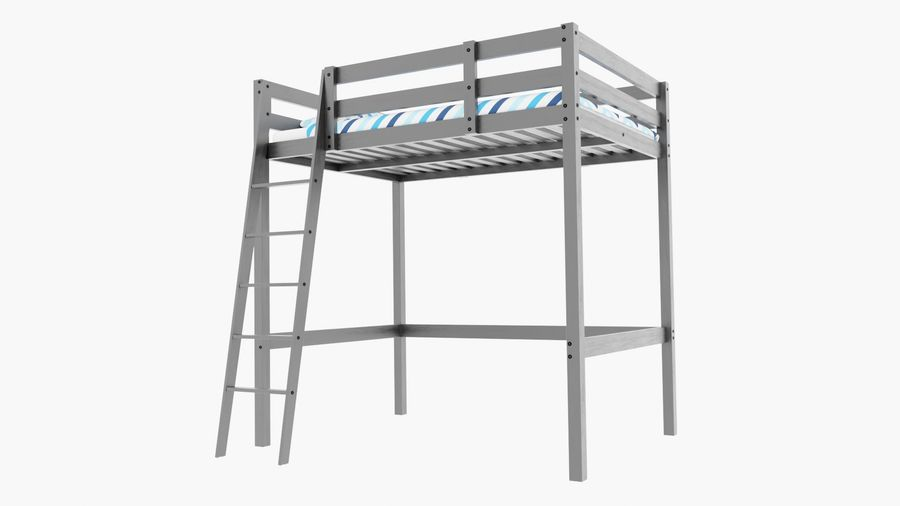 IKEA Stora Bunk Bed royalty-free 3d model - Preview no. 2