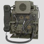 군사 라디오 방송국 PRC-2082 로우 폴리 3D 모델 3d model