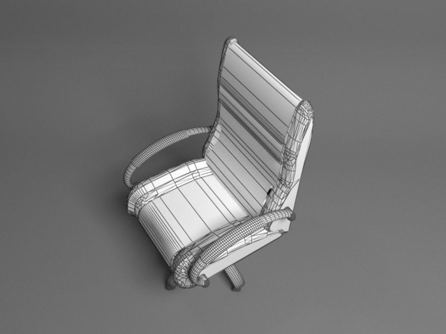 Boss Office Chair royalty-free 3d model - Preview no. 5