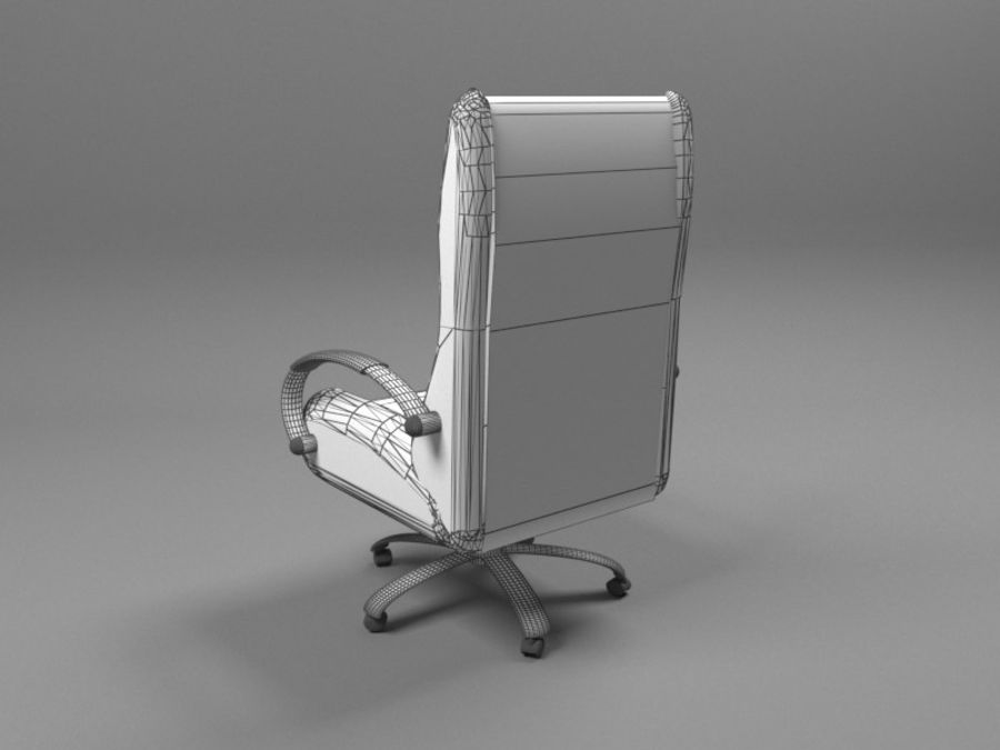 Boss Office Chair royalty-free 3d model - Preview no. 4