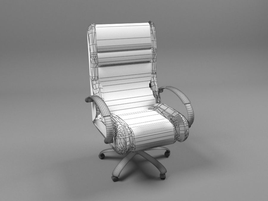 Boss Office Chair royalty-free 3d model - Preview no. 2