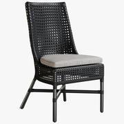 Cadeira de jantar Maluku 3d model