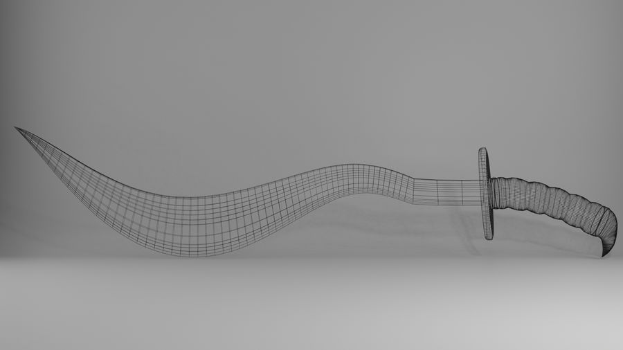 Curved Sword royalty-free 3d model - Preview no. 13