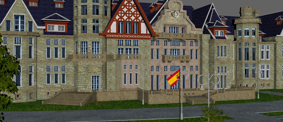 Magdalena Palace. Spain royalty-free 3d model - Preview no. 10