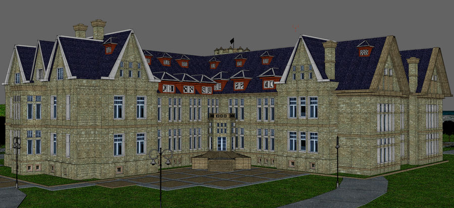 Magdalena Palace. Spain royalty-free 3d model - Preview no. 15
