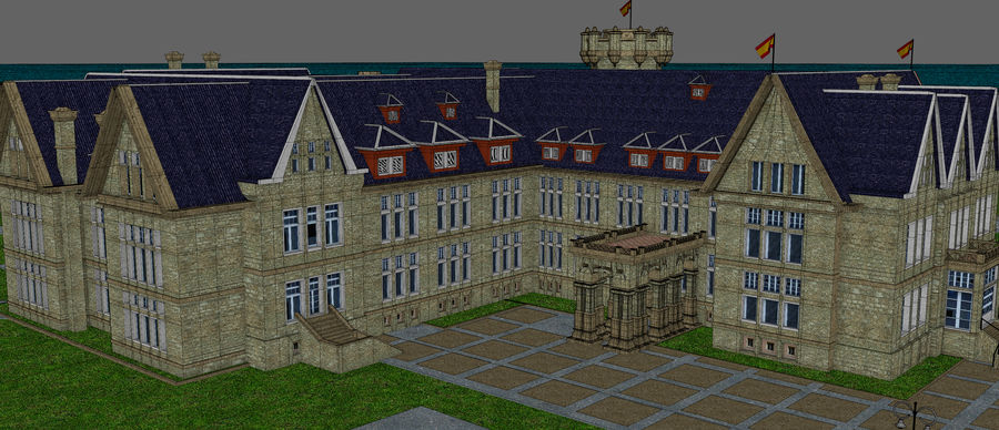 Magdalena Palace. Spain royalty-free 3d model - Preview no. 16