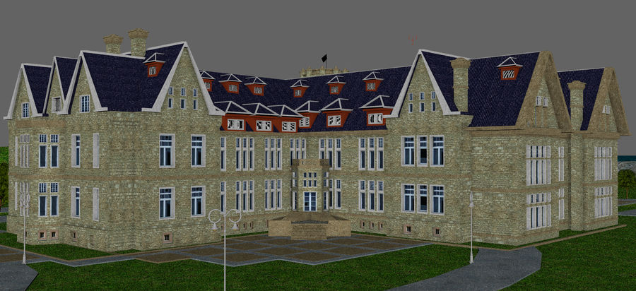 Magdalena Palace. Spain royalty-free 3d model - Preview no. 14