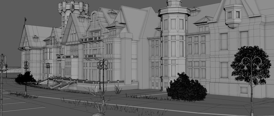 Magdalena Palace. Spain royalty-free 3d model - Preview no. 13