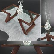 Set Evans Coffee Table 3d model