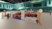 12 x 9 system booth Exhibition Stand 3d model
