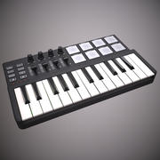 Twee octaaf MIDI-keyboard 3d model