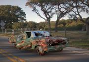 绿色经典砸车 3d model