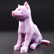 Husky Puppy Low Poly 1 3d model