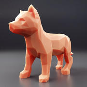 Husky Puppy Low Poly 2 3d model