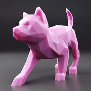 Husky Puppy Low Poly 3 3d model