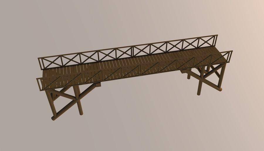 Low Poly Bridge royalty-free 3d model - Preview no. 10
