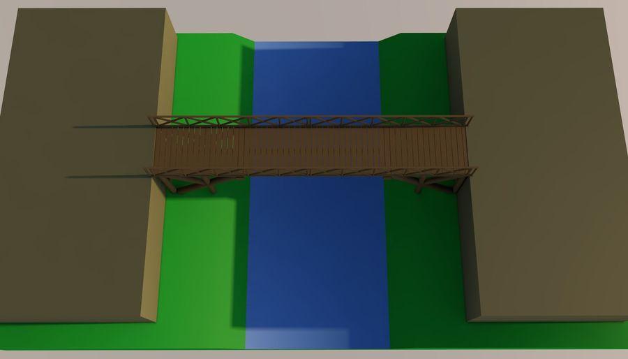 Low Poly Bridge royalty-free 3d model - Preview no. 9