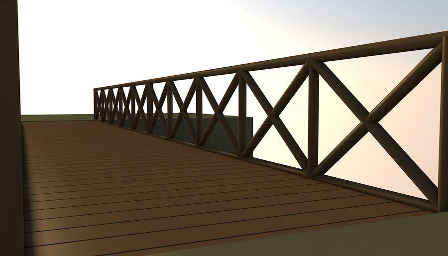 Low Poly Bridge royalty-free 3d model - Preview no. 3