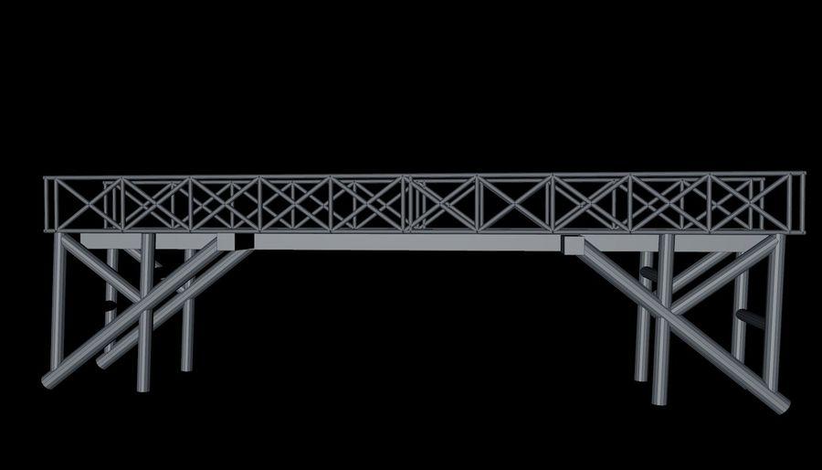 Low Poly Bridge royalty-free 3d model - Preview no. 16