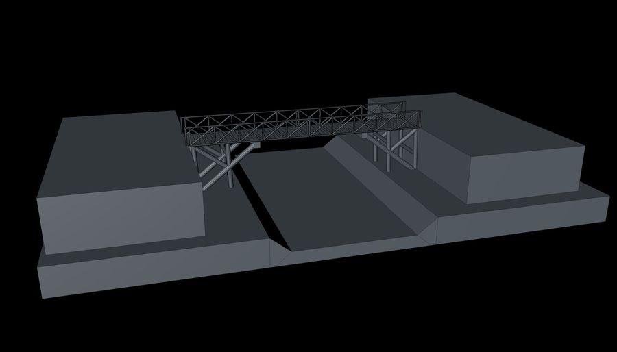 Low Poly Bridge royalty-free 3d model - Preview no. 11