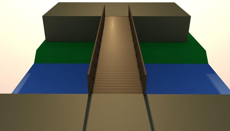 Low Poly Bridge royalty-free 3d model - Preview no. 1