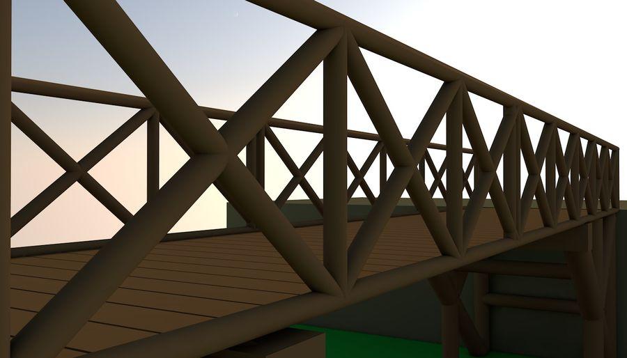 Low Poly Bridge royalty-free 3d model - Preview no. 2