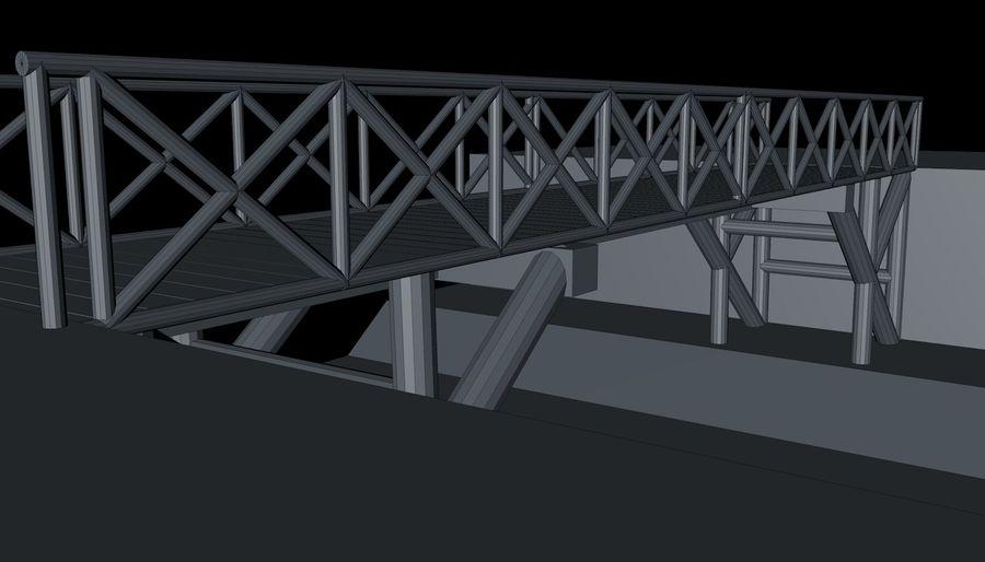 Low Poly Bridge royalty-free 3d model - Preview no. 12