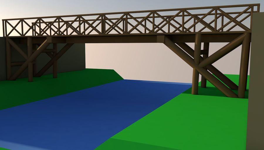 Low Poly Bridge royalty-free 3d model - Preview no. 4