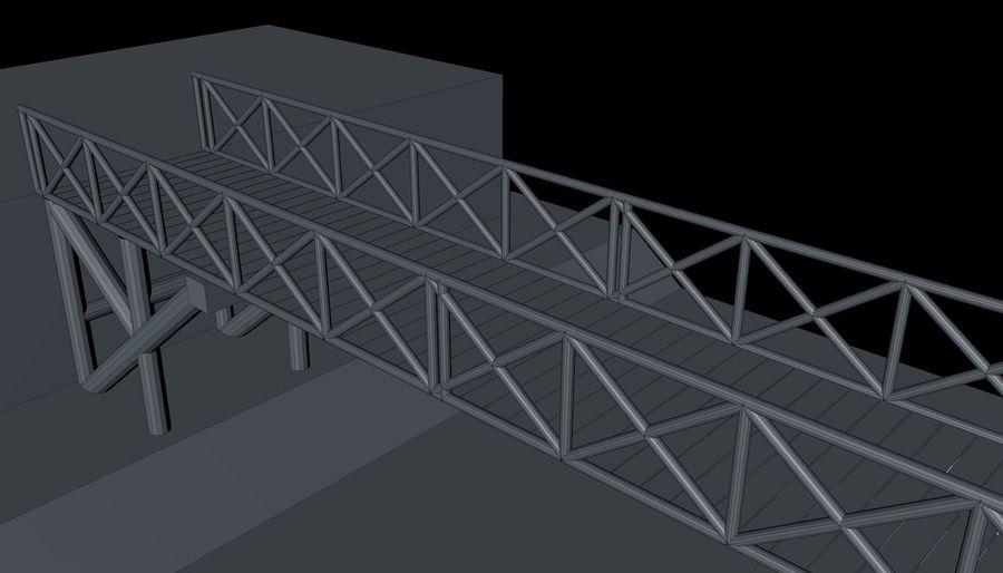Low Poly Bridge royalty-free 3d model - Preview no. 14