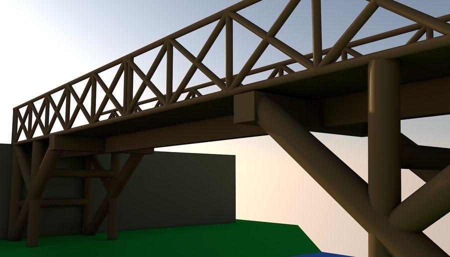 Low Poly Bridge royalty-free 3d model - Preview no. 5