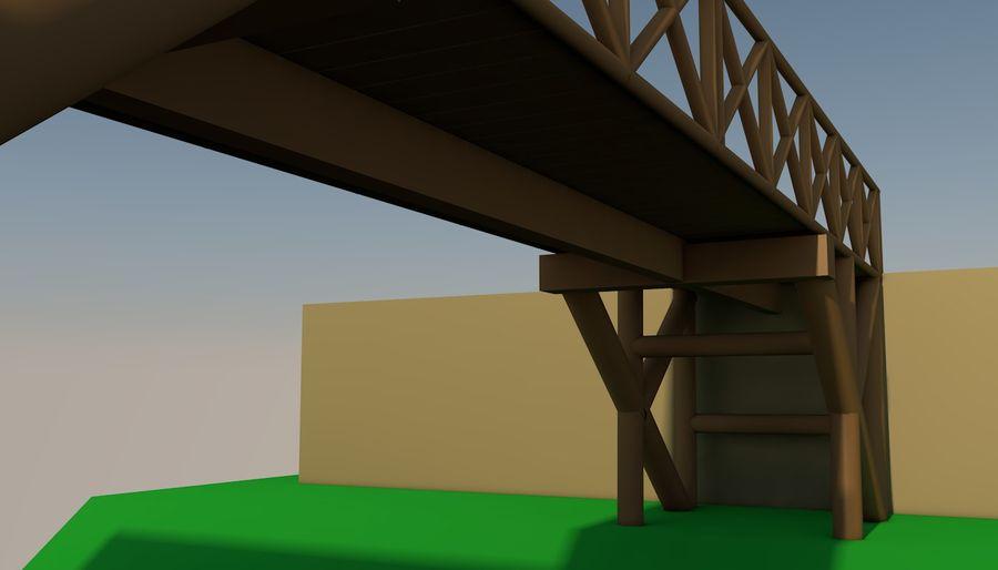 Low Poly Bridge royalty-free 3d model - Preview no. 8