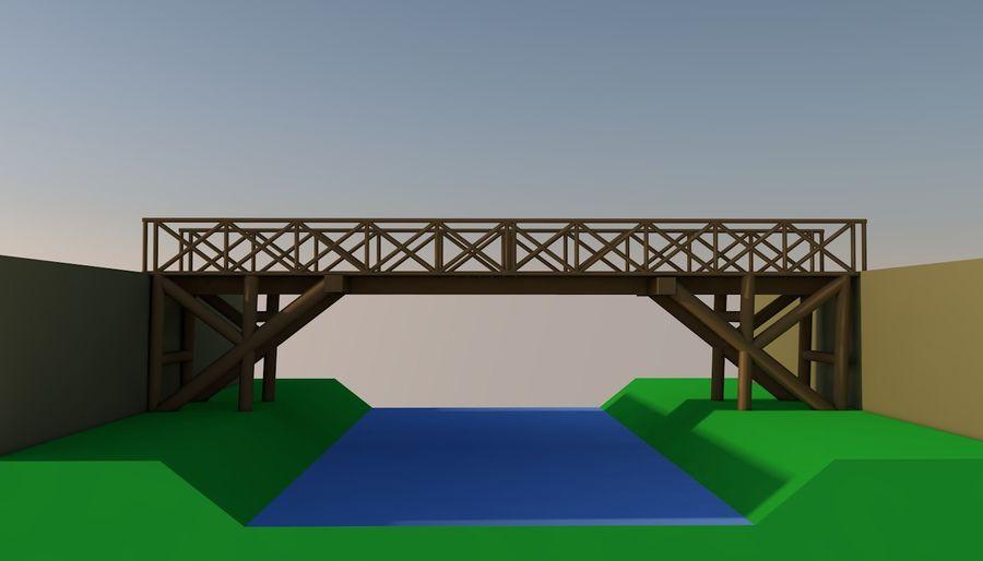 Low Poly Bridge royalty-free 3d model - Preview no. 6