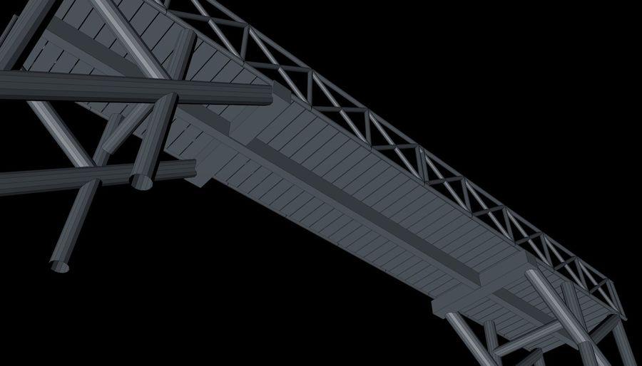 Low Poly Bridge royalty-free 3d model - Preview no. 15