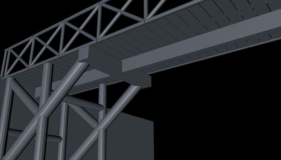 Low Poly Bridge royalty-free 3d model - Preview no. 13