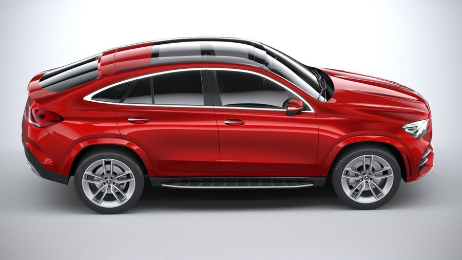 Mercedes-Benz GLE Coupe AMG 2020 royalty-free 3d model - Preview no. 12