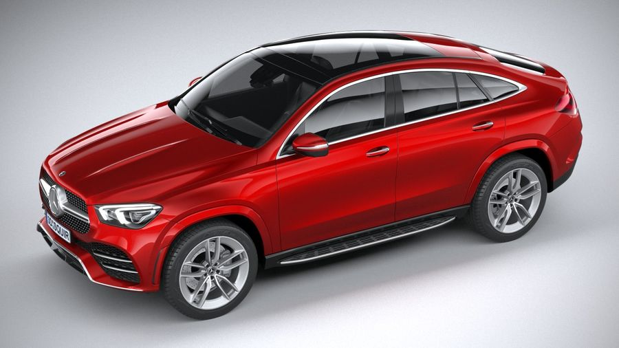 Mercedes-Benz GLE Coupe AMG 2020 royalty-free 3d model - Preview no. 8