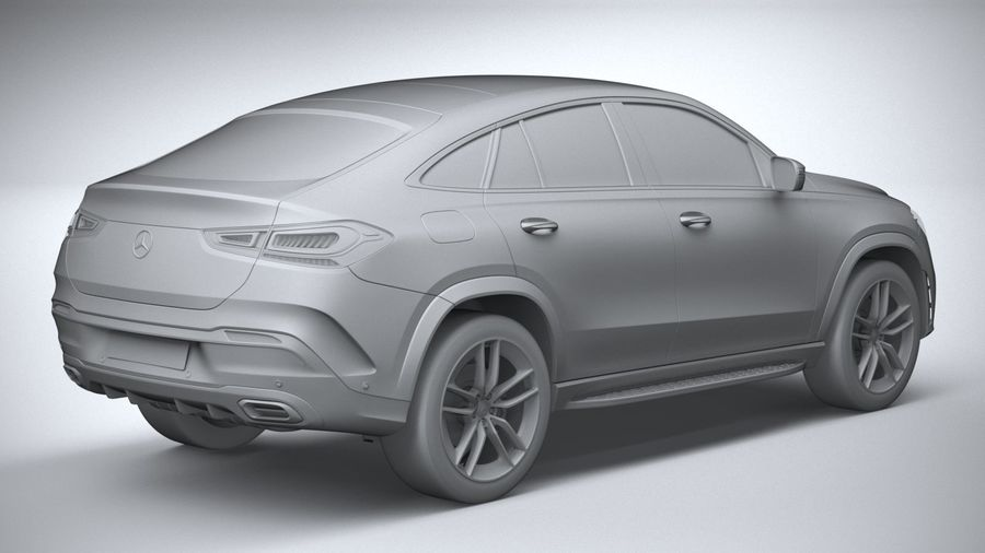 Mercedes-Benz GLE Coupe AMG 2020 royalty-free 3d model - Preview no. 26