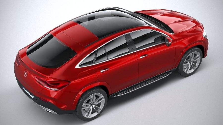 Mercedes-Benz GLE Coupe AMG 2020 royalty-free 3d model - Preview no. 11