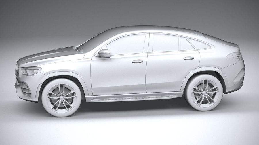 Mercedes-Benz GLE Coupe AMG 2020 royalty-free 3d model - Preview no. 23