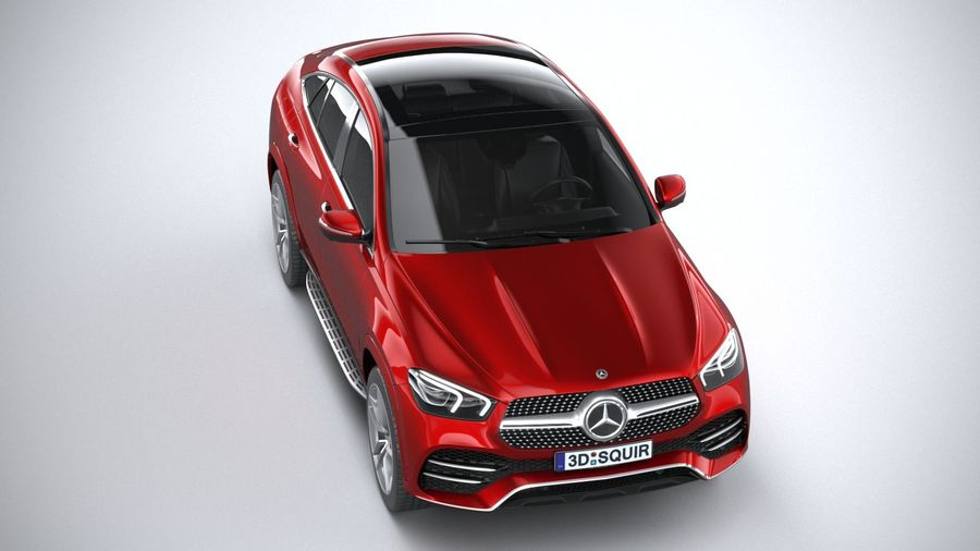 Mercedes-Benz GLE Coupe AMG 2020 royalty-free 3d model - Preview no. 13