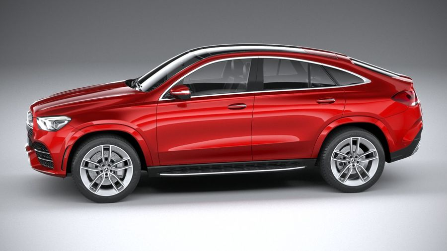 Mercedes-Benz GLE Coupe AMG 2020 royalty-free 3d model - Preview no. 9