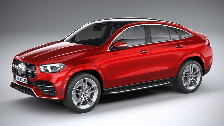 Mercedes-Benz GLE Coupe AMG 2020 royalty-free 3d model - Preview no. 1