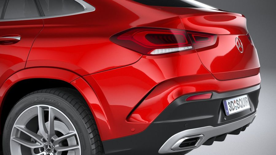 Mercedes-Benz GLE Coupe AMG 2020 royalty-free 3d model - Preview no. 7