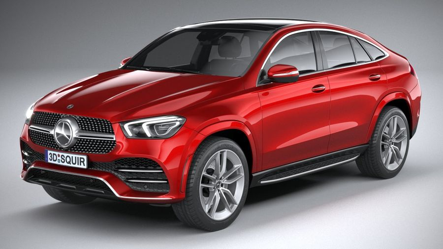 Mercedes-Benz GLE Coupe AMG 2020 royalty-free 3d model - Preview no. 2