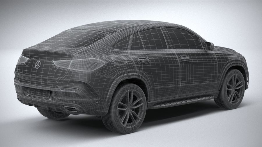 Mercedes-Benz GLE Coupe AMG 2020 royalty-free 3d model - Preview no. 30