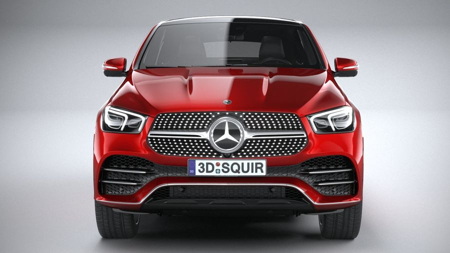 Mercedes-Benz GLE Coupe AMG 2020 royalty-free 3d model - Preview no. 14