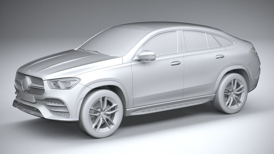 Mercedes-Benz GLE Coupe AMG 2020 royalty-free 3d model - Preview no. 20
