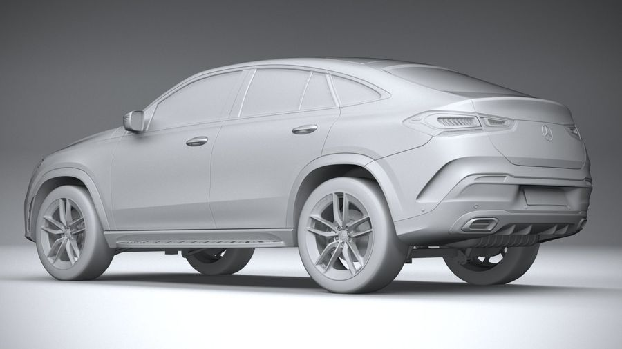 Mercedes-Benz GLE Coupe AMG 2020 royalty-free 3d model - Preview no. 22