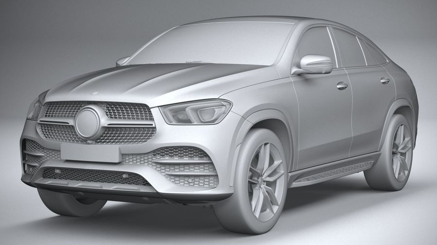 Mercedes-Benz GLE Coupe AMG 2020 royalty-free 3d model - Preview no. 21