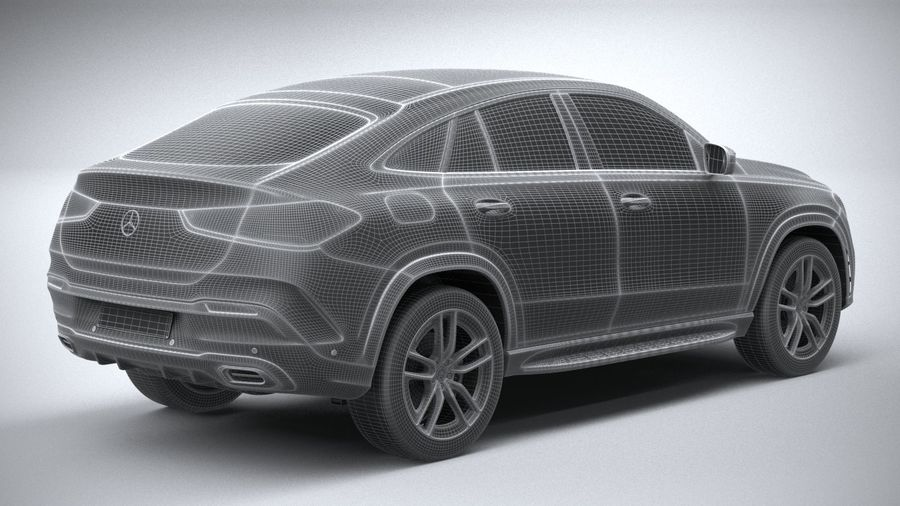 Mercedes-Benz GLE Coupe AMG 2020 royalty-free 3d model - Preview no. 28